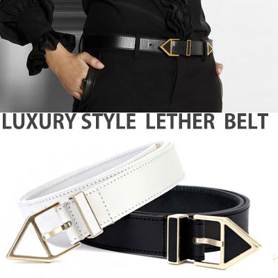 TRIANGLE LUXURY STYLE LEATHER BELT
