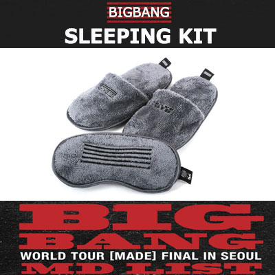 <OFFICIAL GOODS><<BIGBANG MADE>>BIGBANG SLEEPING KIT/SLIPPERS&MASK