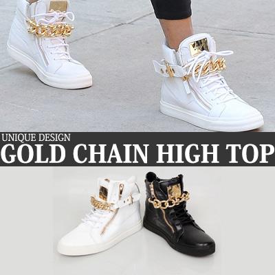 UNIQUE DESIGN GOLD CHAIN HIGH TOP
