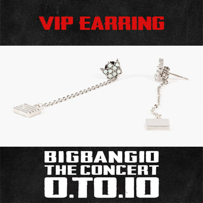 BIGBANG OFFICIAL GOODS VIP EARRINGS