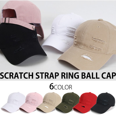 SCRATCH STRAP RING BALL CAP (6COLOR)