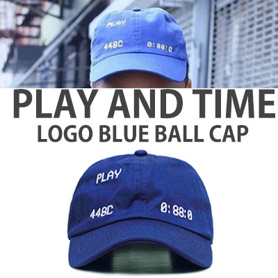 PLAY AND TIME LOGO BLUE BALLCAP