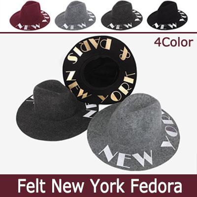NEWYORK LETTERING FEDORA HAT