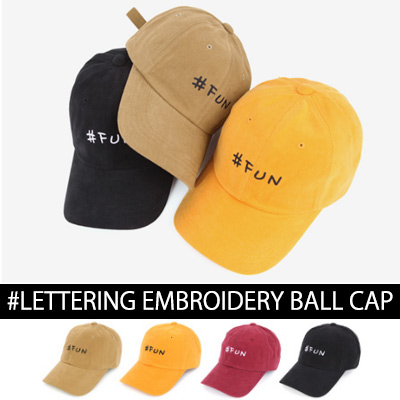 #FUN LETTERING EMBROIDERY BALL CAP