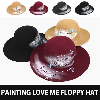 PAINTING LOVE ME FLOPPY HAT