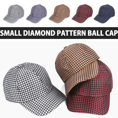 SMALL DIAMOND PATTERN BALL CAP