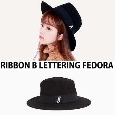 RIBBON B LETTERING FEDORA