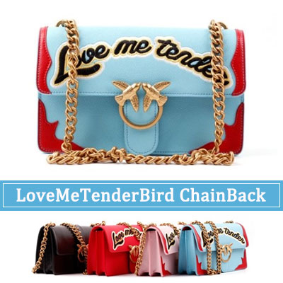 ORDER MADE★LEATHER BAG★LOVE ME TENDER BIRD CHAIN SHOULDER BAG