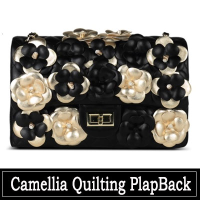 ORDER MADE★LEATHER BAG★CAMELLIA QUILTING FLAP BAG