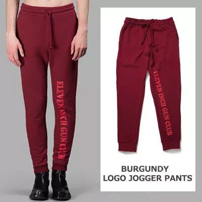 BURGUNDY LOGO JOGGER PANTS