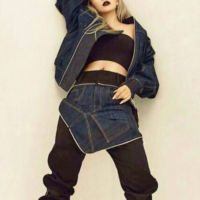 HIGH QUALITY!EXO CHANYEOL,2NE1 CL FASHION SLTYLE!OVER FIT SIZE DENIM BLOUSON JACKET