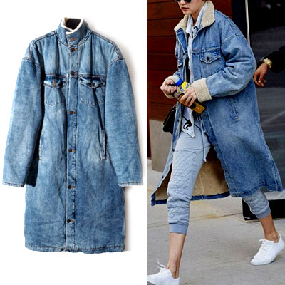 15S/S SERPA WHASHING DENIM LONG JACKET