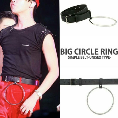 50%sale★9481円->4740円★UNISEX★BIGBANG G DRAGON STYLE UNIQUE DESIGN BIG RING BELT