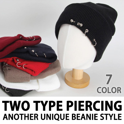 TWO TYPE PIERCING ANOTHER UNIQUE BEANIE STYLE