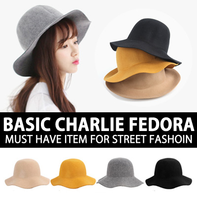 BASIC CHARLIE FEDORA MUST HAVE ITEM FOR STREET FASHION