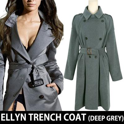 [VENETA](DEEP GREY)SIMPLE CLASSIC ELLYN TRENCH COAT