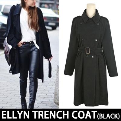 [VENETA](BLACK)SIMPLE CLASSIC ELLYN TRENCH COAT