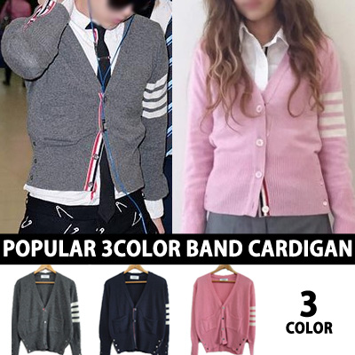 G-DRAGON STYLE SANDARA PARK STYLE KOREAN ACTORS STYLE! POPULAR 3 COLOR BAND CARDIGAN