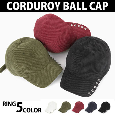 CORDUROY 5RING 5COLOR BALL CAP