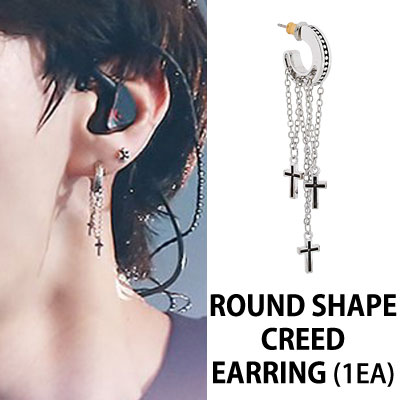 VIXX STYLE ROUND SHAPE CREED EARRING (1EA)