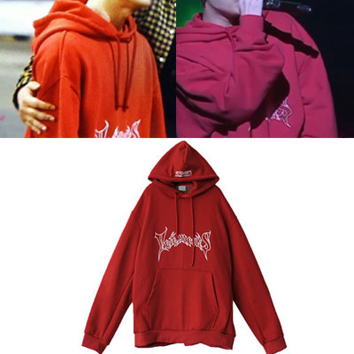 [2017 fw Restock] RED COLOR VER. SIMPLE GRAFFITI LOGO OVER SIZE HOODIE