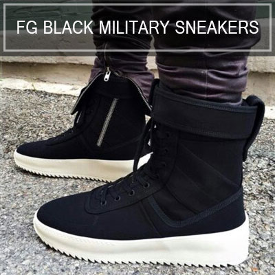 FG BLACK MILITARY SNEAKERS