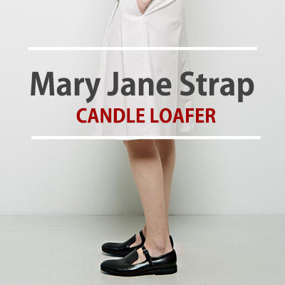 [22.5~25.0cm]MARY JANE STRAP CANDLE LOAFER FOR WOMAN DAILY SHOES