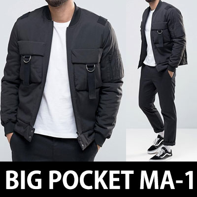 DOUBLE BIG POCKET D-RING MA-1