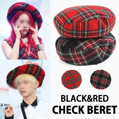 Crystal of F (X), and me with shiny key wear style! Trendy to chic LOOK finished! Check beret