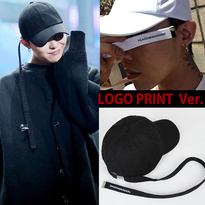SUPER LONG STRAP BALL CAP LOGO PRINT VER./G-DRAGON STYLE