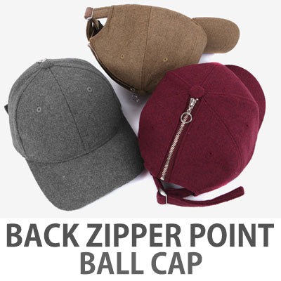 BACK ZIPPER POINT BALL CAP