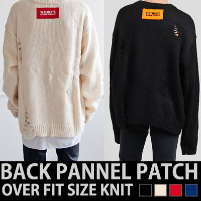BACK PANNEL PATCH OVER FIT SIZE KNIT