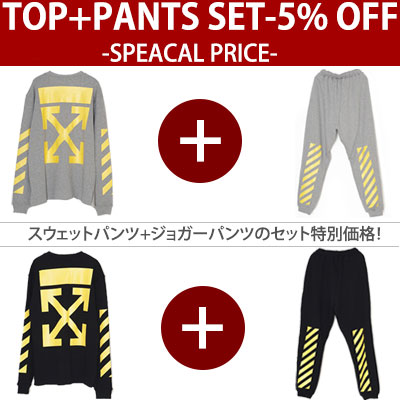 (Purchase as a set and get 5% offf) YELLOW SIGNATURE SWEAT SHIRT + PANTS/BLACK,GREY