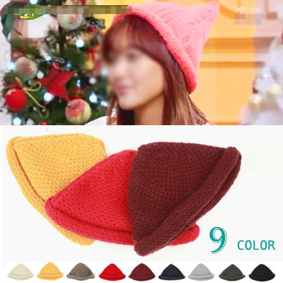 KOREAN ACTRESS STYLE! FAIRY KNITING HAT