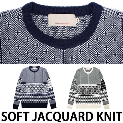 [BASIC SIMPLE LINE]SOFT JACQUARD KNIT
