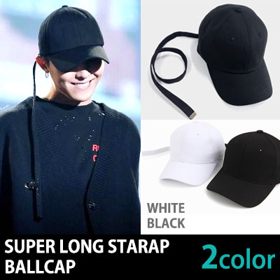 [BLACK/WHITE]75cm SUPER LONG STRAP  BALL CAP