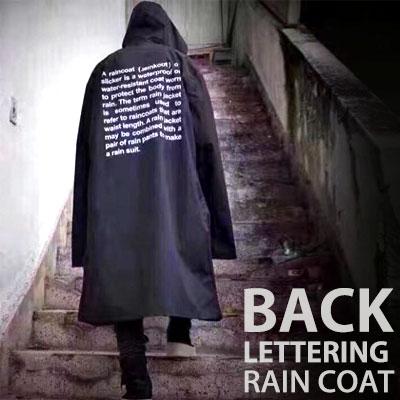 OVERSIZE BACK LETTERING RAIN COAT