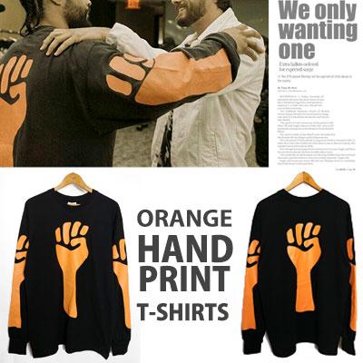 JERRY LORENZO st/ORANGE HAND PRINT T-SHIRTS