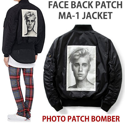 FACE BACK PATCH MA-1 BOMBER JACKET