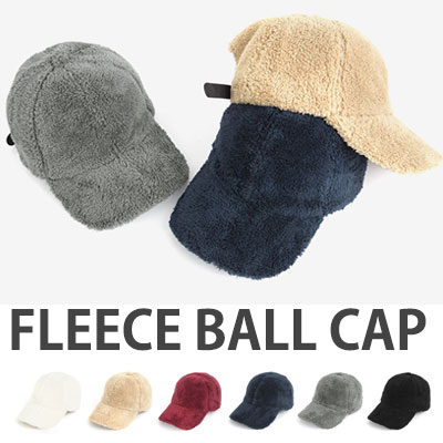 FLEECE BALL CAP/feel soft/6color