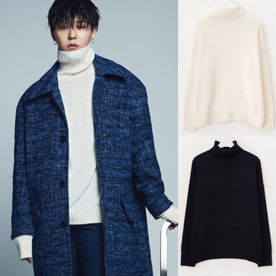 2016 FW [8 X GD's PICK] GD Over Fit Turtle Neck Pull OverG-DRAGON Colaboration 8SECONDS