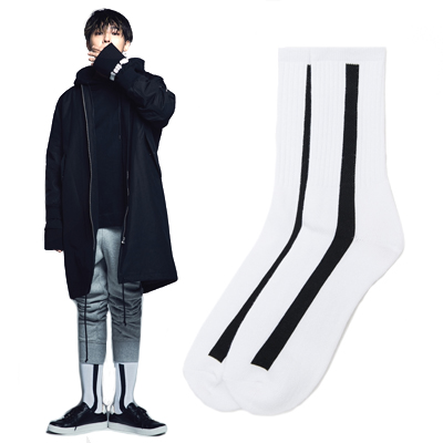 2016 FW [8 X GD's PICK]GD White Dragon Socks G-Dragon GD G-DRAGON Colaboration 8SECONDS