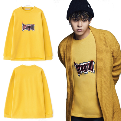 2016 FW [8 X GD's PICK] GD Dragon Print Sweat Shirts Colaboration 8SECONDS