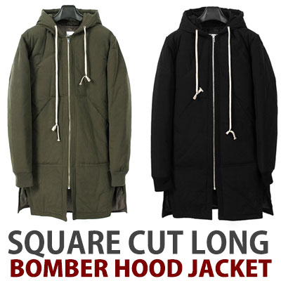 6oz cotton 100%/SQUARE CUT LONG BOMBER GOOD JACKET