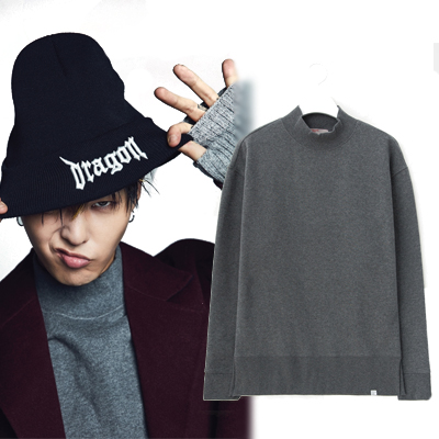 2016 FW [8 X GD's PICK] GD Gray Over Fit Winter Sweat Shirt 8SECONDS
