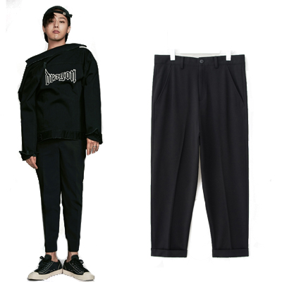2016 FW [8 X GD's PICK]Black Baggy Pants GD G-DRAGON Colaboration 8SECONDS