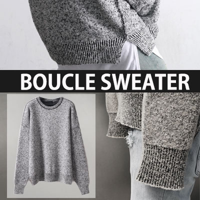 BOUCLE SWEATER OVER FIT SIZE UNISEX KNIT