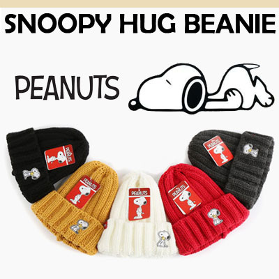 (OFFICIAL GOODS)SNOOPY HUG BEANIE/5COLOR