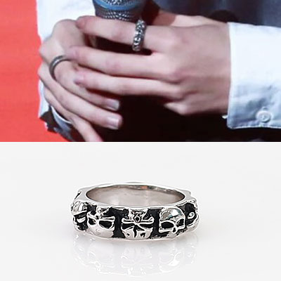 SKULL PATTERN ANIQUE RING/K-POP IDOL IKONIC STYLE