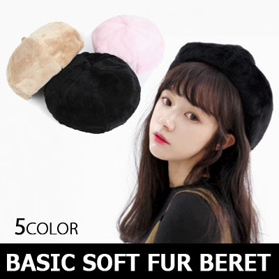 BASIC SOFT FUR BERET/winter item